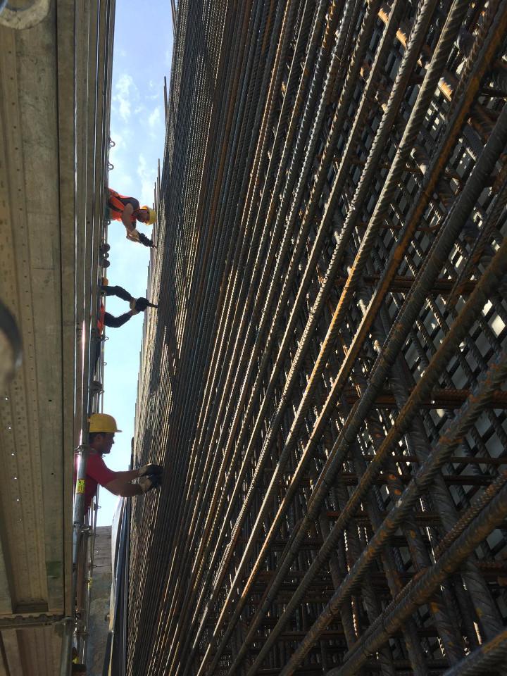 Armierung Stahlbau Bewehrung für Tunnelbau